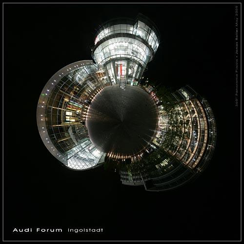 Tiny Planet Ingolstadt Audi Forum